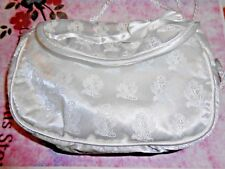 First Communion  White Satin Purse appr 6 x 4 inch with shoulder strap
