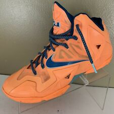 Nike Lebron James XI Atomic Orange Men's Basketball Shoes 616175-800 Size 10