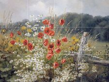 POPPIES AND DAISIES Tile Mural Kitchen Bathroom Wall Backsplash Ceramic 17x12.75