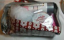 White Christmas Bath Gift Set Winter White Vanilla Scent 5 Pieces New in Bag