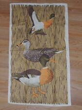 "LOIS LONG MALLARD DUCKS LINEN TEA TOWEL 17"" x 28"""