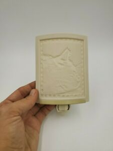 Curved Porcelain Lithophane Kitten Dreams Cat Night Light Handmade USA