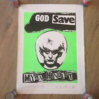 Jamie Reid God Save ORIGINAL Artist Proof Signed Print 2003 COA Sex Pistols Punk