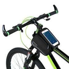 """ROSWHEEL Bicycle Front Frame Bag Pannier Double Pouch for 5.7"""" Cellphone Screen"""