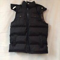 Climate Concepts Boys Camo Lined Cargo Pocket Bubble Vest Black Size XXL Or 18