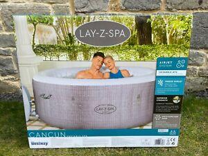 Lay Z Spa Cancun 4 Person Hot Tub - 2021 Model - Freeze Shield - Rattan - NEW