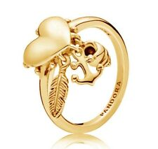 New Genuine PANDORA Spiritual Symbols Ring 14K Gold Vermeil 197187