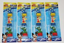 4 DISNEY MICKEY MOUSE LASER CUT STAMPER FIGURE PARTY FAVORS DONALD DUCK GOOFY