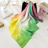 Grande Echarpe-Foulard-Châle,Cadeau Femme,100%Soie,Jaune-Vert-Rose,Style,Mode,FR
