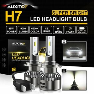 AUXITO H7 LED Headlight Kit 20000LM Hi Low Beam Bulb 6500K Lamp White High Power