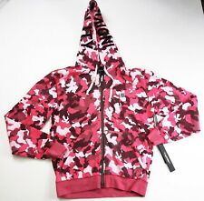 Cult of individuality mens 100%authnetic L/S zip hoodie Pink camo size Medium