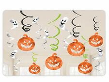 12 X Halloween Calabaza Fantasma Colgante remolinos Value Pack espeluznante Decoraciones