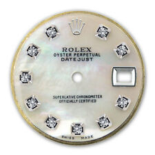 Mop Diamond Dial For Rolex Customized Ladies Datejust-26Mm Ss White