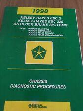 New Listing1998 Ram Truck Dakota Durango Chassis Diagnostic Procedures Manual