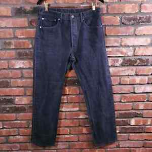 Levi's 501 Button-fly Straight Leg Jeans Navy Blue Wash Denim Men's Sz 34 x 34
