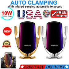 10W Wireless Automatic Clamping Smart Sensor Car Phone Holder and Fast Charger