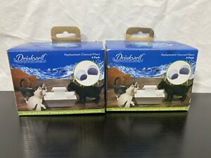 Drinkwell Charcoal Water Filters 13906 Avalon Pagoda Fountains 4 Pk Lot Of 2