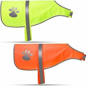 2 Pieces Dog Reflective Vest Adjustable Dog XL Orange, Fluorescent Yellow
