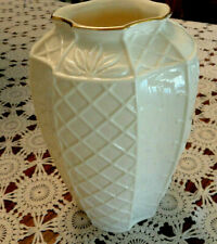 "Fitz & Floyd ""The Botanical Collection"" Vase ~ Ivory w/Gold Trim ~ Pc"