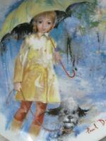 Sammelteller Christiane et Fifi Hund Limoges Turgot  Les Enfants De Durand