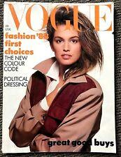 Very Rare Vintage UK VOGUE Magazine 1998 Cindy Crawford Naomi Linda Supermodels