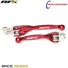 RFX FLEXIBLE BRAKE & CLUTCH LEVER SET RED HONDA CR80 2000  :FXFL10000