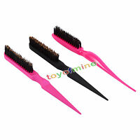 Teasing Back Hair Salon Brush Tangle Combing Long and Short Plastic Tail Comb