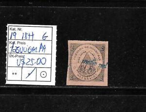 (59298) HONDURAS CLASSIC STAMPS #19 1877 TEGUCIGALPA UNUSED OG CAT.VL+ U$ 25,00