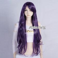 Lolita Dark Purple Long 80CM Wavy Fashion Party Women Cosplay Wig + Wig Cap
