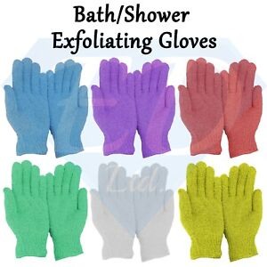 Athena Exfoliating Gloves Skin Body Bath Shower Loofah Scrub Massage Spa - Pair