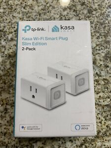 2 TP-Link KP100 Kasa Wi-Fi Smart Plugs Works With Alexa & Google Assistant