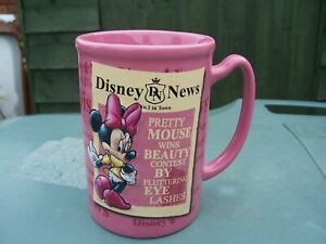 From The Disney Store Large Pink Ceramic Minnie Mouse Mug