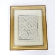 Vintage New In Plastic Gold Executive Award Document Frame 8.5x11 Certificate