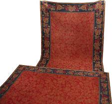 Pair of decorative Italian collezione Tappeti fabric/kilim in red colours