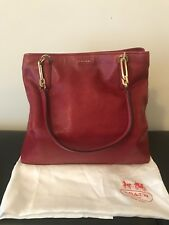 Coach red tote handbag