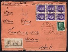 POSTA MILITARE 1942 Lettera Raccomandata da PM 22 a Chiaiano (FMH)