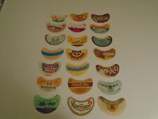 New listing Lot Of (21) Diff Vintage Russia Small Beer Labels -Mint