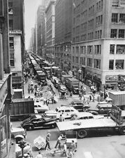 37TH STREET & 8TH AVENUE NEW YORK CITY 1948 11x14 SILVER HALIDE PHOTO PRINT