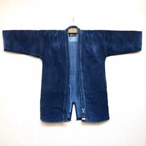 Vintage Indigo Kendo Jyudo gi Jacket uniform 3L Japanese Martial Arts Aizome F/S