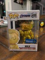 Funko POP! NIB Marvel Avengers Endgame WALMART HULK GOLD #499