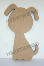 Dog shape in MDF (200mm x 18mm thick)/Wooden blank craft shape