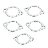 5Pcs 3in Ceramic Exhaust Pipe Metal Gasket w/ Reinforced Ring 76mm Downpipe MDF