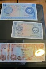 More details for 8 cyprus banknotes /ef to unc