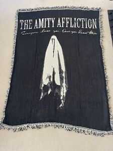 """The Amity Affliction - Everyone Loves You 50"""" X 60"""" Huge Blanket Only 100 Made!"""