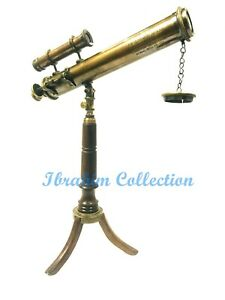 Vintage antique brass 14'' Telescope East India company brass Telescope with