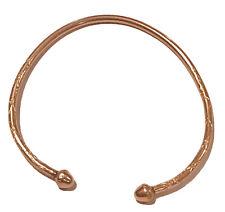 athinc tribal acorn head 10k Light Rose Gold west indian  Etched bangle 15.8 Gra