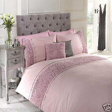 Limoges Rose Floral Chic Ruffle Duvet Cover/Quilt Cover Set Bedding