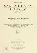 1922 SANTA CLARA County California CA, History and Genealogy Ancestry DVD V95