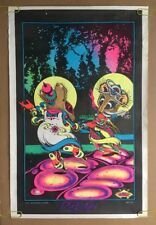 Rock-On Vintage Blacklight Poster 1970's Mice Pin-up Psychedelic Mouse Petagno