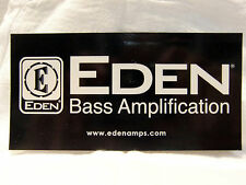 EDEN BASS AMPIFIER DECAL STICKER CASE RACK AMP BUMPER STICKER DECAL BLACK WHITE